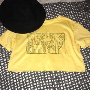 Yellow cacti T shirt